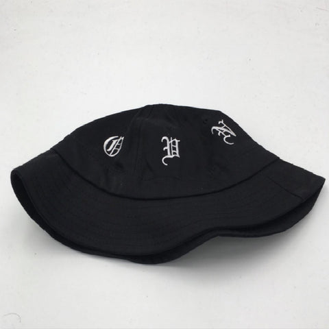 27e810a6b04 letter stitched bucket hat summer panama fishing cap