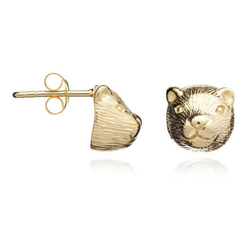 Gold Otter Earrings