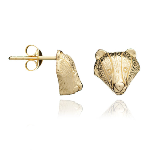 Gold Badger Studs