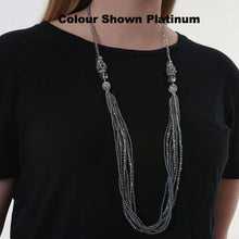 Platinum Crystal 3 way necklace