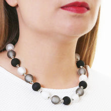 Frosted Bon Bon Necklace Grey