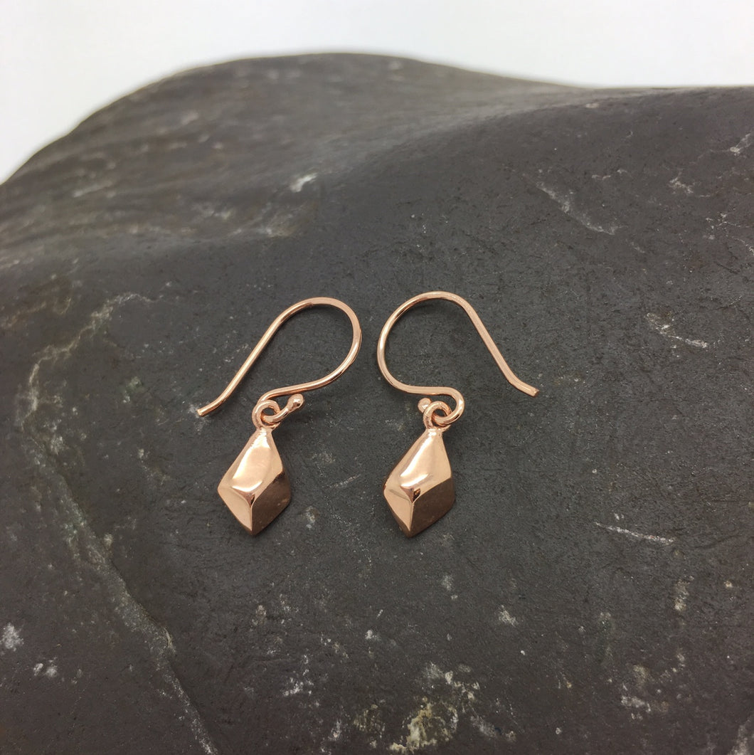 Rose Gold Nugget Earrings