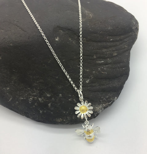 Bee and Daisy Pendant