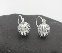 Silver Caged Ball Earrings