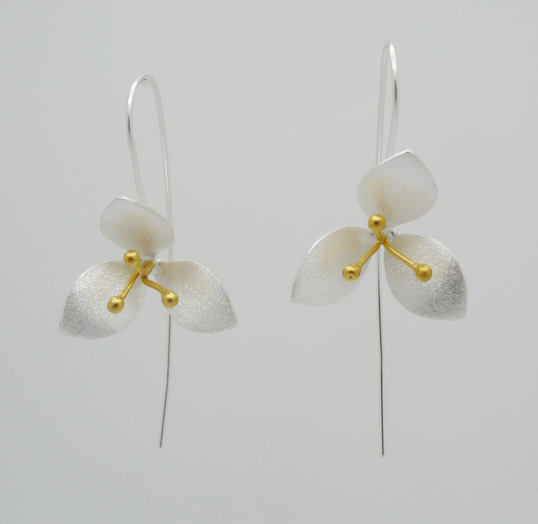 Trillium Orchid Earrings