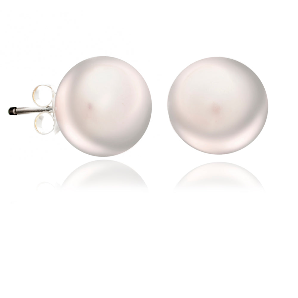 Pink Pearl Stud Earrings