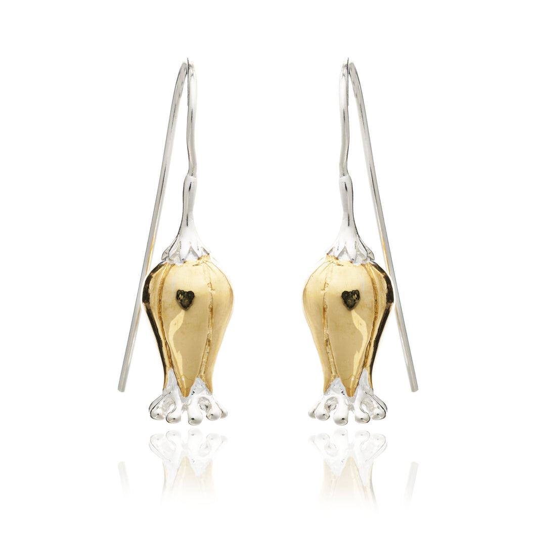 Yellow Gold Bluebell Earrings