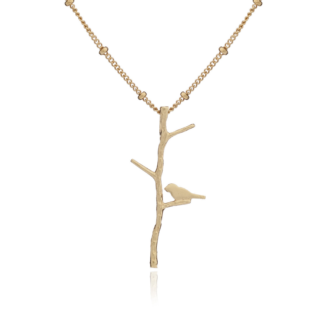 Yellow Gold Branch Out Pendant