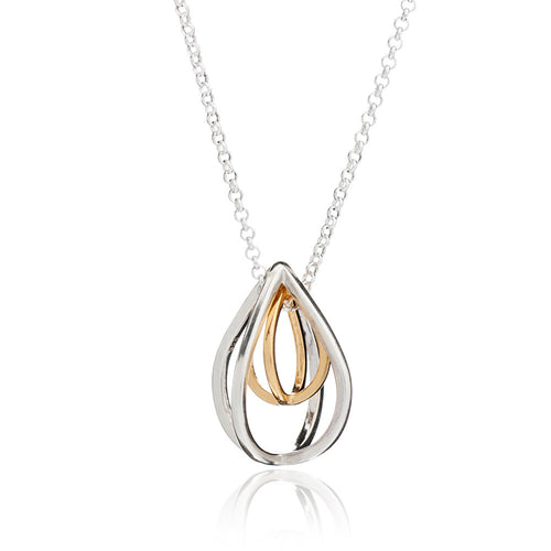 Tear Drop Geometric Pendant