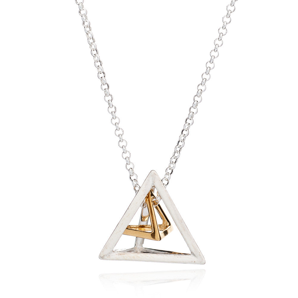 Triangle Geometric Pendant