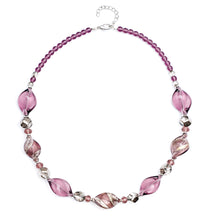 Twist Murano Glass Necklace, Plum.