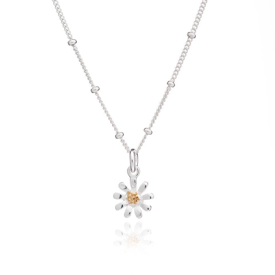 a jane petal katy daisy necklace featuring silver brass product pendant