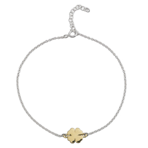 Yellow Gold Four-leaf Clover Bracelet