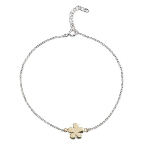Yellow Gold Flower Bracelet