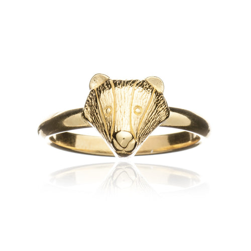 Gold Badger Ring