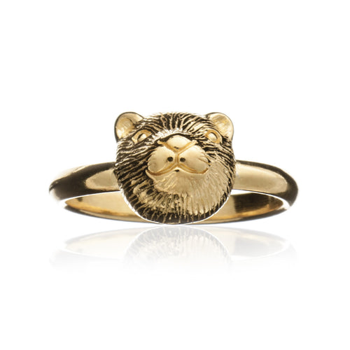 Gold Otter Ring