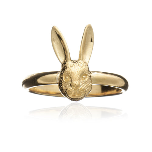 Gold Hare Ring