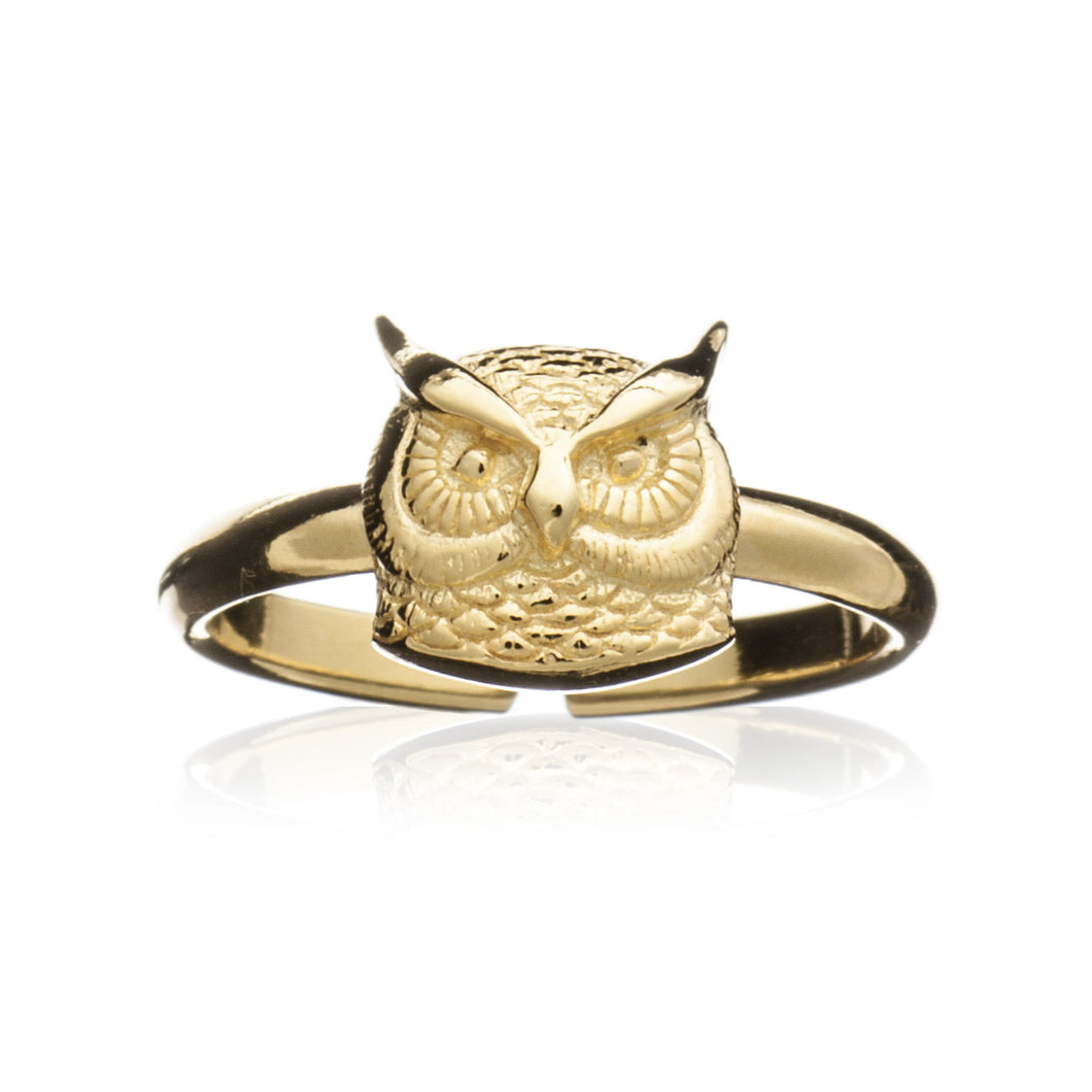 Gold Long-eared Owl Ring