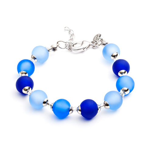Frosted Blue Murano Bracelet