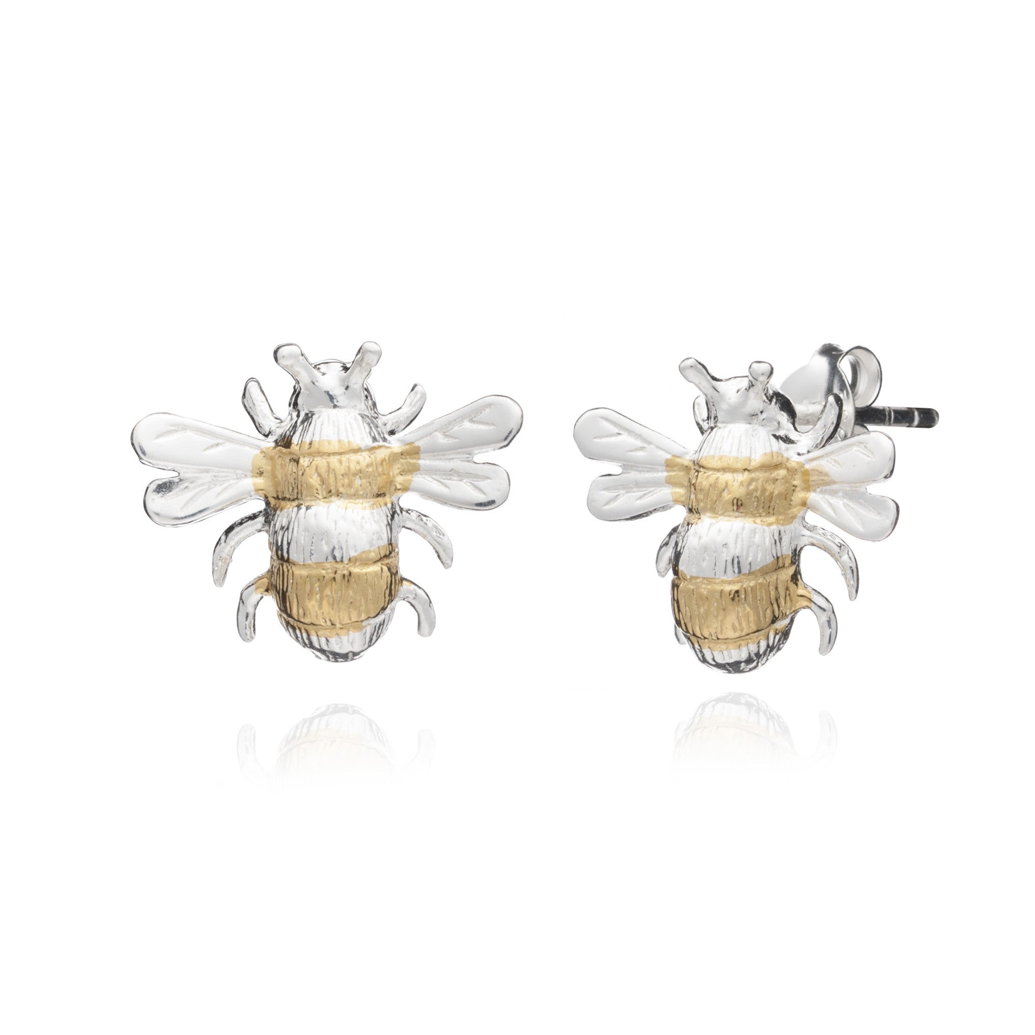 on yvonne earring normal bee metallic jewelry lyst gold leon gallery stud and l diamond product in