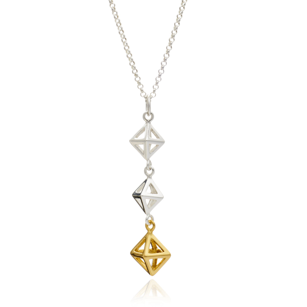 Geometric Square Drop Pendant