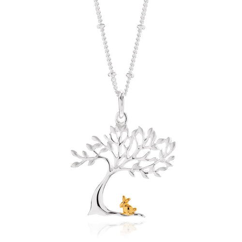 Rabbit Under a Tree Pendant