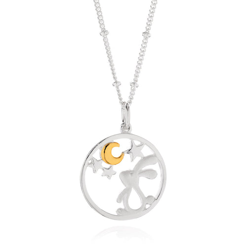 Star Gazing Rabbit Pendant