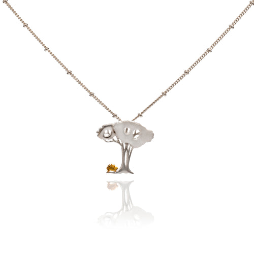 Hedgehog Under Tree Pendant