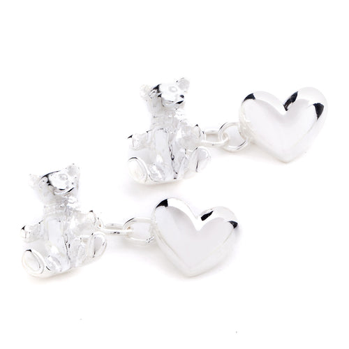 Teddy and Heart Cufflinks