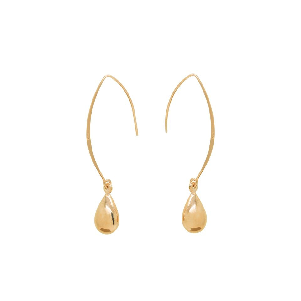 Rose Gold Tear Drop Loop Earring