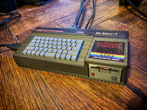 ZX Spectrum Plus 3 Raspberry Pi case (3D printed parts only)