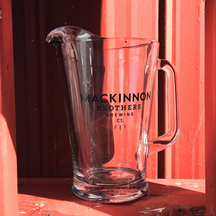 MacKinnon Brothers Glass Beer Pitcher