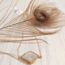 Ava Diamond Druzy Necklace