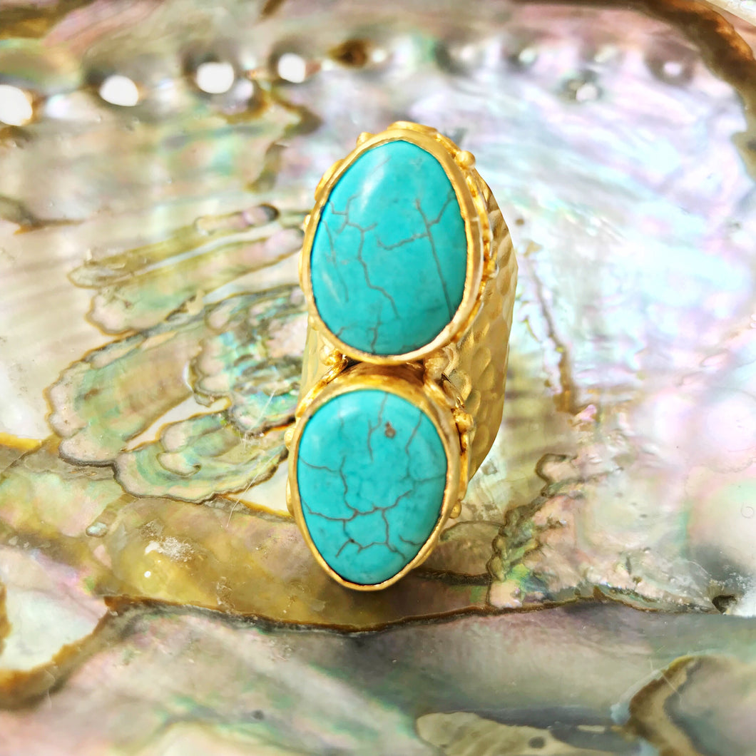 Haley Turquoise Cocktail Ring
