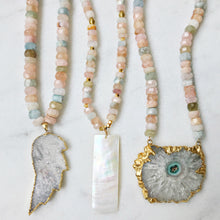Mother of Pearl & Opal Necklace 🌸