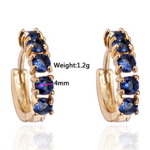 Girls Women Rhinestone Earrings Ear Hook Stud Jewelry BU 1 Pair - 4D's T&D Inc