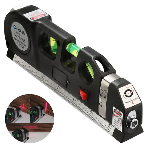 Laser Level Multipurpose Horizon Vertical Measure Tape 8Ft 2.5M Aligner Ruler Tool https://4ds-t-d-inc.myshopify.com