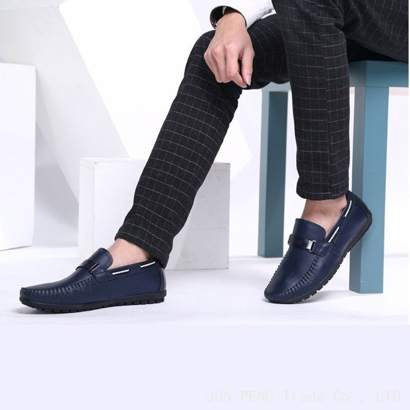 bedb2e8c36828 Big Size 38~45 High Quality Genuine Leather Men Shoes Soft Moccasins Loafers  Fashion Brand