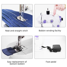 Mini Portable Heavy Duty Electric Sewing Machine with Led Light - EU US UK Plug Gif - 4DS-179PSM 4D'S T&D Inc