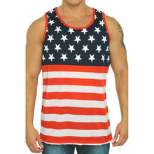 USA Flag Men's Tank Top Shirt American Pride Sleeveless