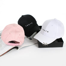 Unisex Letter Printed Solid Caps Men Women Ring Hip Hop Cotton baseball cap Snapback Hat