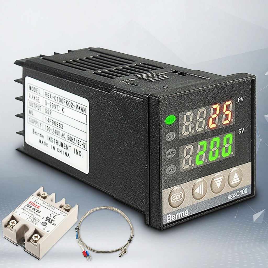 100 240v Digital Pid Temperature Controller 40a Ssr K Thermocouple Wiring To The Sensor 0 999