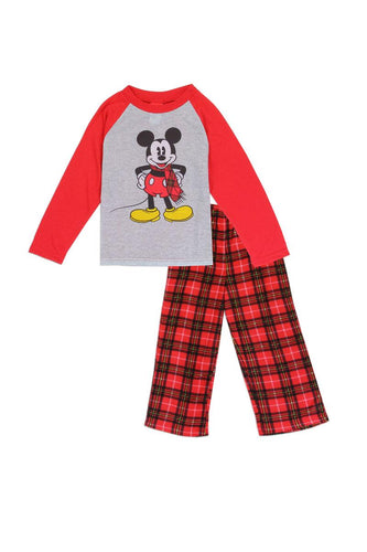 Boys mickey mouse 4-10 fleece pajama set - 4D's T&D Inc