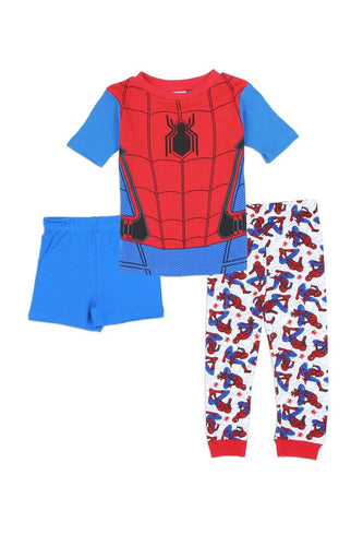 Boys spider-man 4-10 3pc pajama set - 4D's T&D Inc