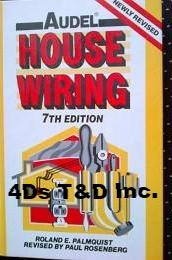 Book - House wiring. Item # 4DS-AHW7.   Price $19.99 - 4D's T&D Inc