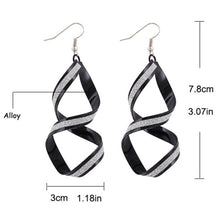 1 Pair Women Alloy Matte Dangle Earings Eardrop Jewelry Earrings BK - 4D's T&D Inc
