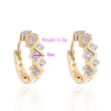 Earrings 1 Pair Girls Women Rhinestone Earrings Ear Hook Stud Jewelry - 4D's T&D Inc