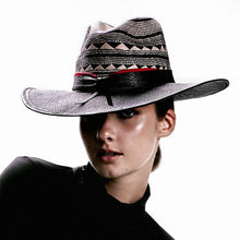 Headwear Fashion  Accordion Black Brim Panama Hat - 4D's T&D Inc