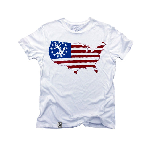 T-Shirt US Map Yacht Ensign: Organic Fine Jersey Short Sleeve https://4ds-t-d-inc.myshopify.co