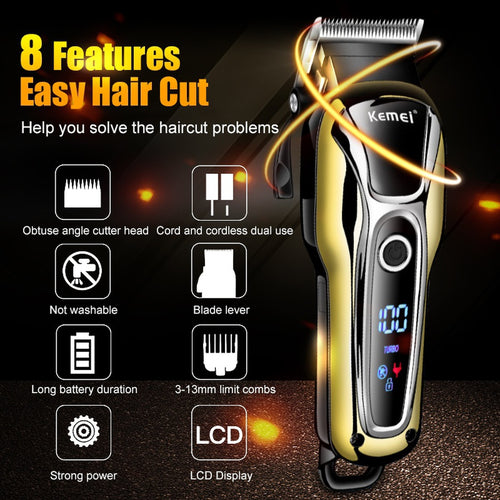 Turbocharged 2018 New 110v-240v Rechargeable Hair Clipper Professional Hair Trimmer Adjustable 5W Hair Clipper Men Kids Haircut https://4ds-t-d-inc.myshopify.com